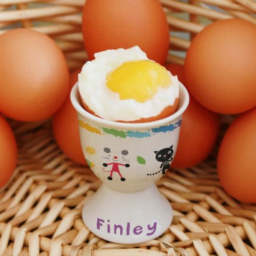 Personalised Arty Mouse Scatter Character Egg Cup